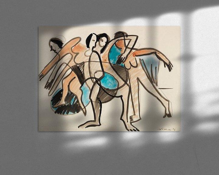 Beispiel: Tanzgruppe, ERNST LUDWIG KIRCHNER, 1926 von Atelier Liesjes