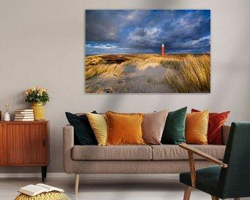 Vuurtoren in de duinen van Ellen van den Doel