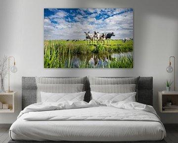 Typisch Nederlands landschap met koeien van Caroline Pleysier