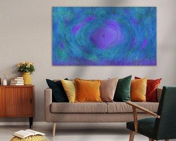 Blauviolett abstrakt von Maurice Dawson