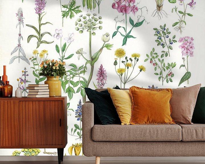 Sfeerimpressie behang: Planten van Jasper de Ruiter