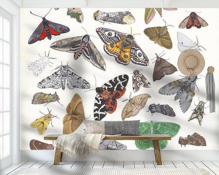 Sfeerimpressie behang: Moths van Jasper de Ruiter