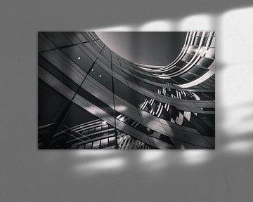 Skyline in der Stadt in Schwarz Weiß von Mustafa Kurnaz