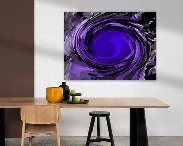Violettblau abstrakt von Maurice Dawson