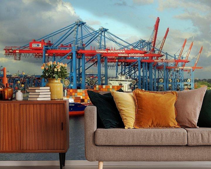 Sfeerimpressie behang: Rotterdam Hafen van Renate Knapp