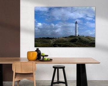 Ronde vuurtoren in Denemarken van Tanja Huizinga Fotografie