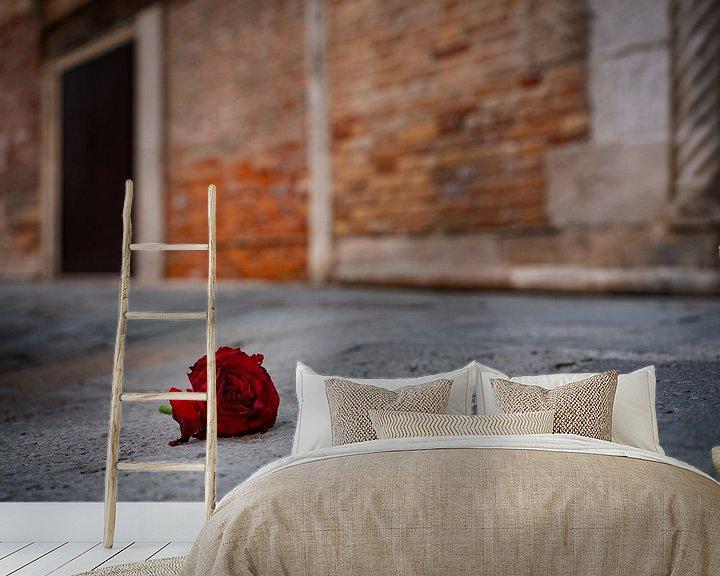 Beispiel fototapete: Rote Rose von Andreas Müller