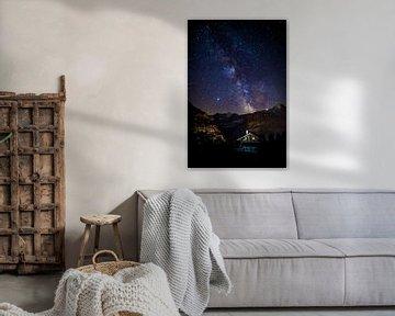 Galaxie au-dessus de l'Eiger en Suisse