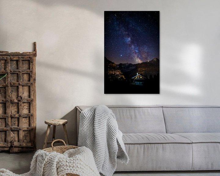 Sfeerimpressie: Melkweg boven de Eiger in Zwitserland van Maurice Haak