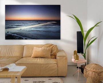 Coucher de soleil sur la plage de Sylt