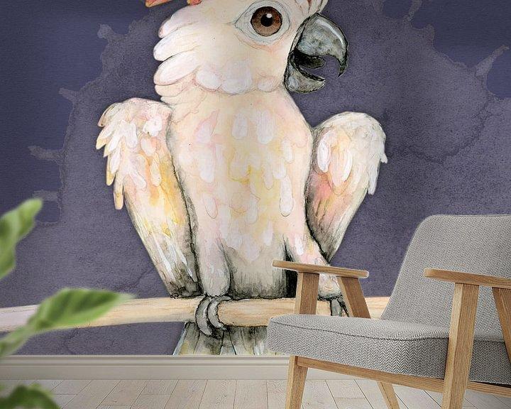 Beispiel fototapete: Molukkischer Kakadu von Bianca Wisseloo
