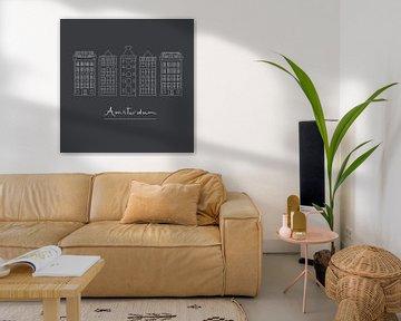 Grachtenhäuser Amsterdam von Anne Dellaert