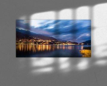 St. Moritz en het St. Moritzmeer in Zwitserland van Werner Dieterich