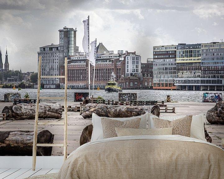 Sfeerimpressie behang: NDSM werf Amsterdam van denk web