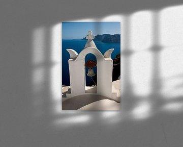 Klokkentoren op Santorini van Angelika Stern
