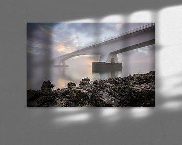 Zonsopkomst bij de Zeelandbrug van Max ter Burg Fotografie
