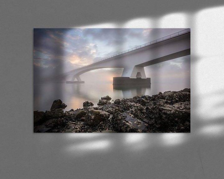 Impression: Lever du soleil au pont de Zeelandbrug sur Max ter Burg Fotografie
