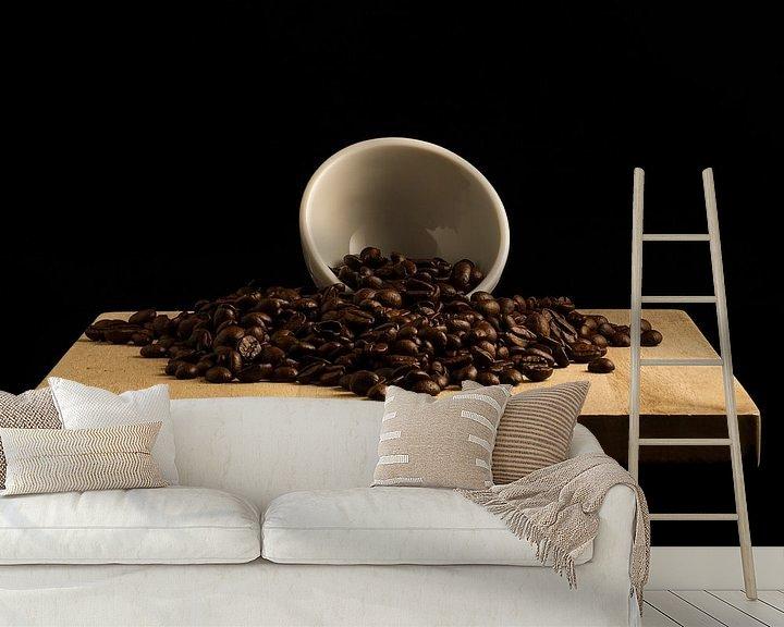 Sfeerimpressie behang: Dark Roast Koffie van Maikel Brands