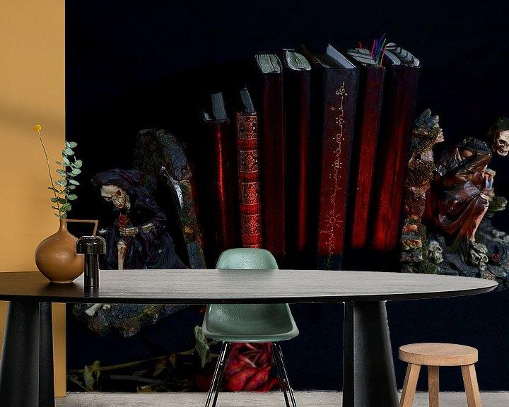 Sfeerimpressie behang: Zeven rode boeken van Wieland Teixeira