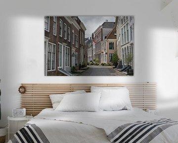 Strakke klassieke Molstraat in Middelburg