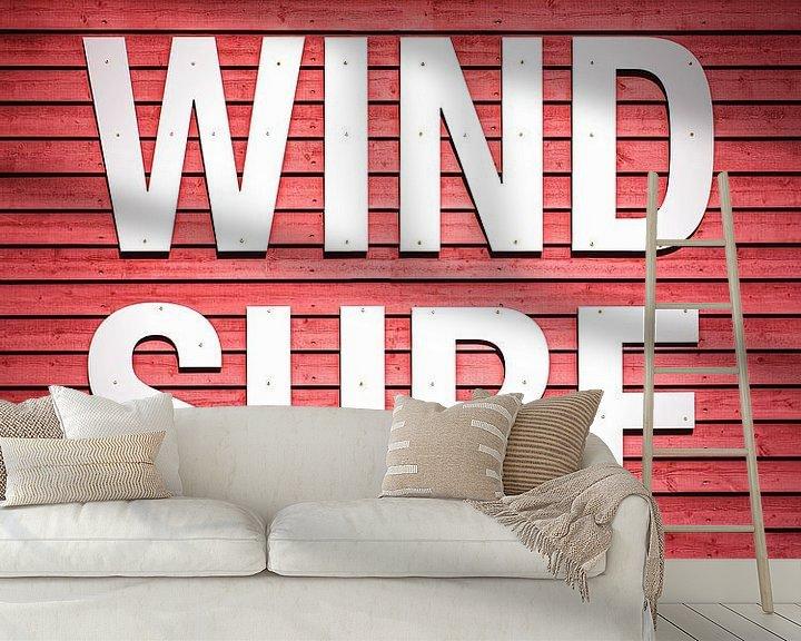 Sfeerimpressie behang: windsurfen van Florian Kunde