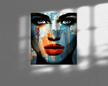 Just Face - Abstract Game 900 3 D - Blue van Felix von Altersheim