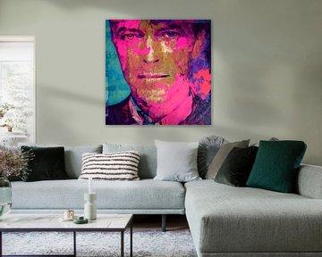 Motiv David Bowie - Pink - Scarf Face von Felix von Altersheim