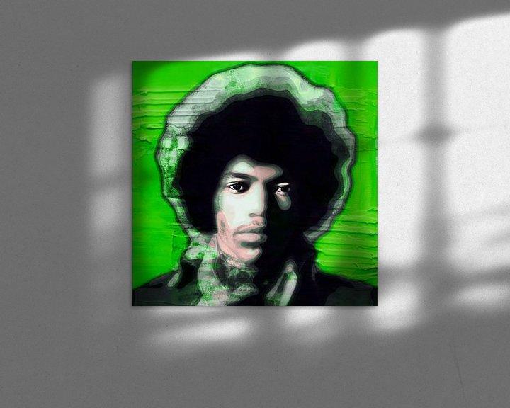 Beispiel: Motiv Jimi Hendrix Ultra HD - Vintage Green von Felix von Altersheim