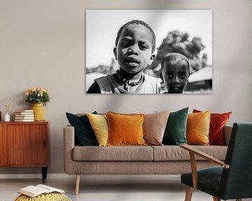 Portret twee Afrikaanse jongens van Ellis Peeters