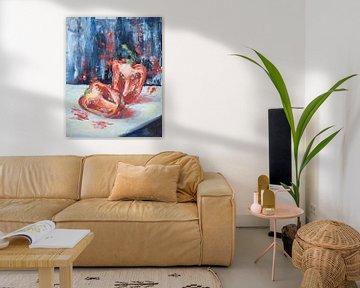 Paprika-olieverf van Tat.kunst