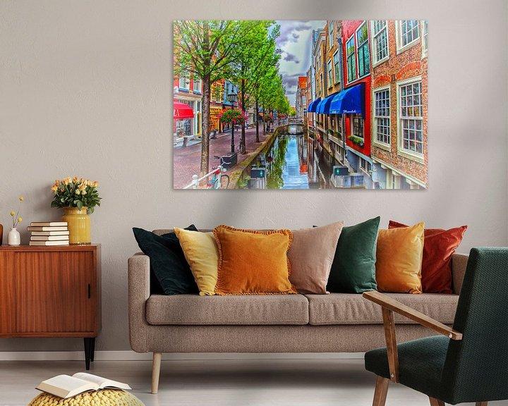 Beispiel: Farben am Kanal in Delft. von Nico van der Hout