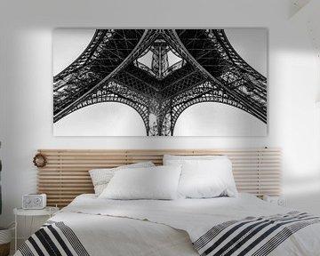 Detail Eiffelturm in Paris / Schwarzweiss von Werner Dieterich