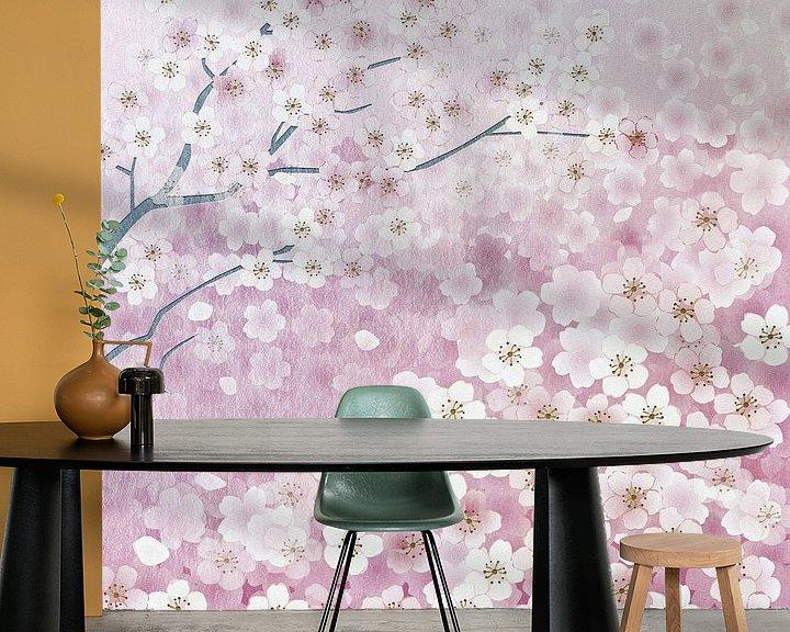 Sfeerimpressie behang: Sakura van Jacky Gerritsen