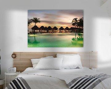 LPH 71312217 Tropisch resort met palmbomen, Bora Bora van BeeldigBeeld Food & Lifestyle