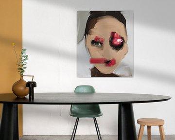 Abstraktes Porträt von Carla Van Iersel