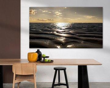 Warme zon aan de Noordzee in Denemarken van Susanne Begert
