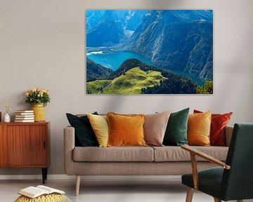 Blick vom Berg Jenner auf den Königssee im Berchtesgadener Land von Rico Ködder