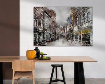 Walstraat in Vlissingen (Zeeland) (kunstwerk) van Art by Jeronimo