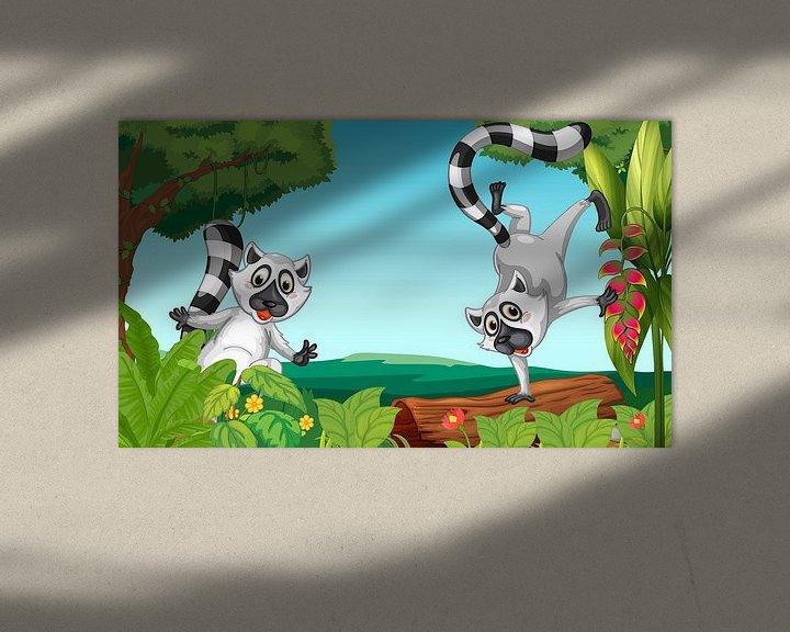 Sfeerimpressie: Wilde lemurs in de jungle van Henny Hagenaars