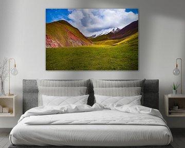 De Lenin Piek in de Alai vallei, Kirgizie van Maarten de Leeuw