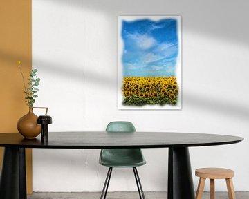 Zonnebloemen van Maurice Dawson