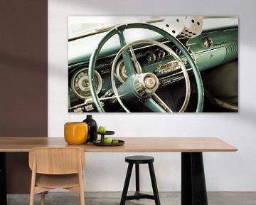 Oldtimer stuurwiel Cockpit (Chrysler) van Christoph Kötteritzsch