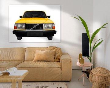 Volvo 245 in yellow von aRi F. Huber