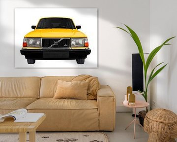 Volvo 245 en jaune sur aRi F. Huber