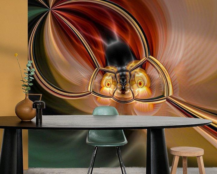 Beispiel fototapete: Phantasievolle abstrakte Twirl-Illustration 109/7 von PICTURES MAKE MOMENTS