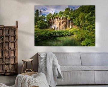 waterval in Plitvice van Antwan Janssen
