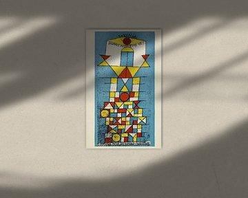 Postkarte Bauhaus-Ausstellung - Paul Klee, 1923