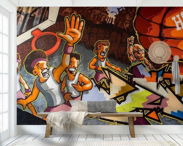 Beispiel fototapete: Basketball als Straßenkunst von Antwan Janssen