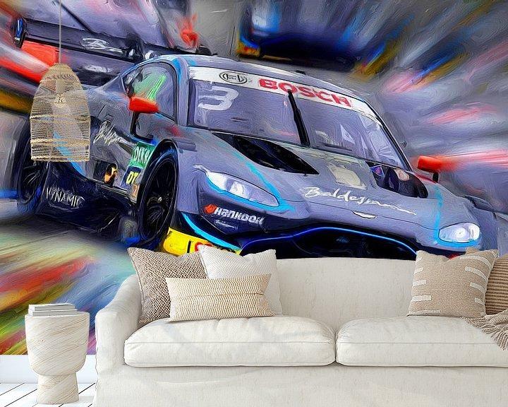 Beispiel fototapete: Aston Martin on the Race Track von Jean-Louis Glineur alias DeVerviers