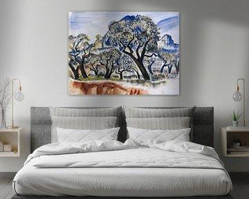 Südfranzösische Landschaft mit Bäumen, Paul Kleinschmidt,  1929 von Atelier Liesjes